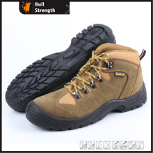 Brown Suede Leather Industrial Safety Shoe with Steel Toe (SN5239)