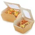Caja de almuerzo de arroz Bento de papel impreso personalizado desechable