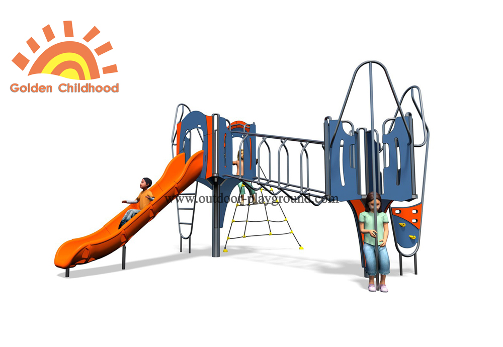 Outdoor Plastic Play Slide Structure Playground