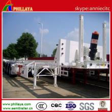 Remorque de demi de récipient de capacité de charge utile de 3 axes 60 tonnes