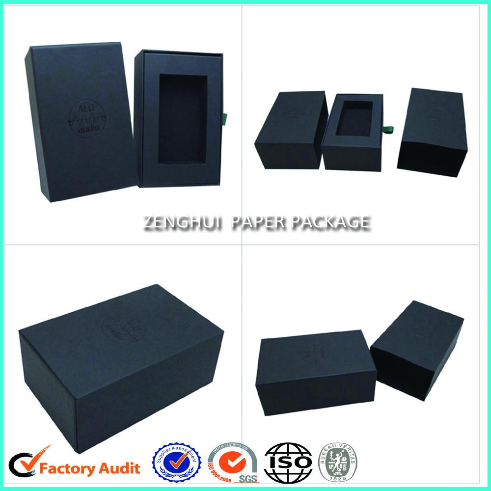 Cheap Rigid Black Drawer Paper Box
