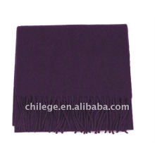 Man's Wool and Cashmere Plain Purple Scarfs