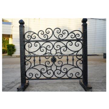 Künstliche einfach zu installieren Schmiedestahl Zaun Design
