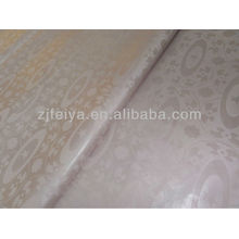 Оптовая горячие Продажа светло-розовый супер Базен riche африканских одежды ткани 100%хлопок дамасской Shadda Гвинея brocade 10 ярдов/мешок