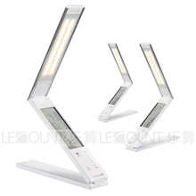 Aluminium Alloy Shell Foldable LED Table Lamp with 3-C Temperature Modes and LCD Calendar (LTB768)