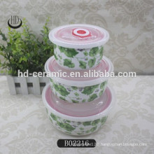 3pcs ceramic bowl set seal fresh bowl set