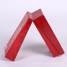 Benutzerdefinierte rote Logoverpackung, die Geschenkbox entfaltet
