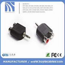 3,5 milímetros estéreo macho para 2x RCA fêmea adaptador