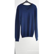 Men Long Sleeve V-Neck Knit Pullover Sweater