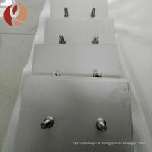 Anode en titane plaqué platine de haute qualité par kg