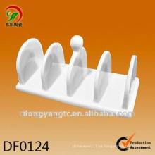 Diseño de titular de servilleta de cerámica blanca al por mayor directo de fábrica