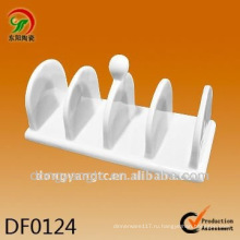 Фабрика прямые оптовые белый керамические салфетки держатель дизайн