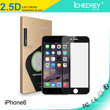 In stock ! 2.5D full cover 0.33mm Anti fingerprint tempered glass screen protector for iPhone 6