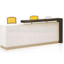 Mobiliario de oficina de recepción de clase alta, escritorio de madera para el tamaño personalizado (KM926)