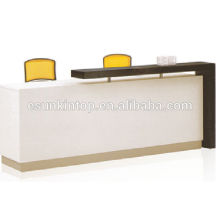 High class reception office furniture, Wood desk for customized size (KM926)
