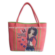 Polyester Shopping Bag for Girls, Sized 35.5x30x10cm