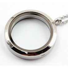 Factory Direclty 30mm Rd 316L Stainless Steel Floating Locket Pendant Without Stones