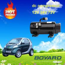 Carro peças de ar condicionado boyang compressor do motor elétrico r134 12v para ar condicionado para caminhão de reboque de carro elétrico
