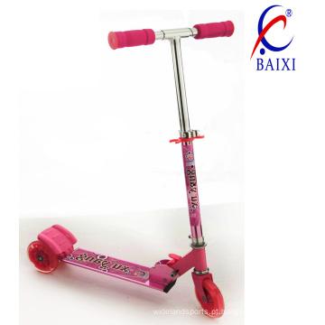 3 rodas scooters para kds com flash de luz (bx-3m002)