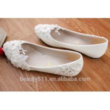 Chaussures à chaussures à semelles en caoutchouc en caoutchouc à fond plat à une seule chaussure en gros chaussures pour mariage en diamant d'eau à main WS030