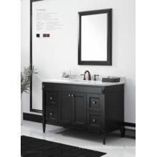 Wooden One Main Cabinet Mirrored Modern Bathroom Cabinet (JN-8819715C)