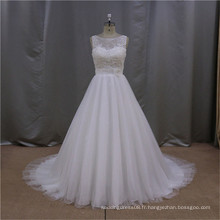 Vente en gros plus la taille robe de mariée de mariage blanc 2015 ed nuptiale