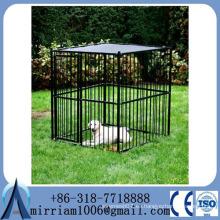 Fábrica de Anping Revestimiento en polvo perrera de perro pesado / perrera de perro de hierro grande