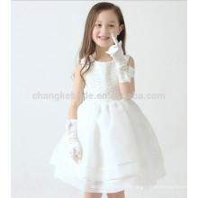 Robe de mariée en floriste de haute qualité pour mariage Fête sans manches Tutu Girl Robes d'été pour enfants