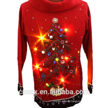 PK14A8054 ugly christmas sweater with light