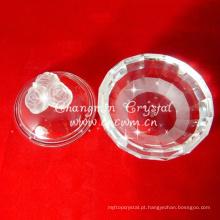 Caixa de jóias de cristal, caixa de rosa de cristal, presente de cristal