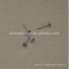 Boucle d'oreille en acier inoxydable BXG030 en acier inoxydable de 4 mm, trouvant des résultats de boucles d'oreilles sans nickel gratuites pour la fabrication de bijoux