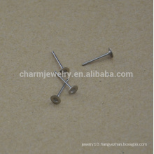 BXG030 Stainless Steel 4mm Flat Pad Earring Finding Plus Nickel Free earring findings for Jewelry-Making