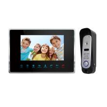 """Black 7"""" TFT-LCD Video Door Phone With Door Release"""