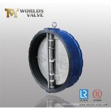 24 pulgadas de revestimiento de goma válvula de retención de doble placa