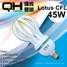 Lâmpadas de poupança de energia de lótus 45w 65w 85w