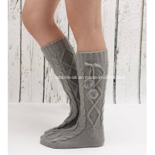 Manufacture Factory Cheap Wholesale Custom Knit Boot Socks Fleece Welly