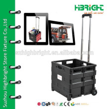 PP plastic folding shopping cart