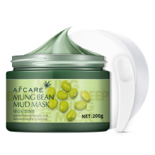 OEM/ODM Mung Bean Clay Face Mask Oil Control Deep Cleaning Remove Grease Shrinks Pores Skin Care