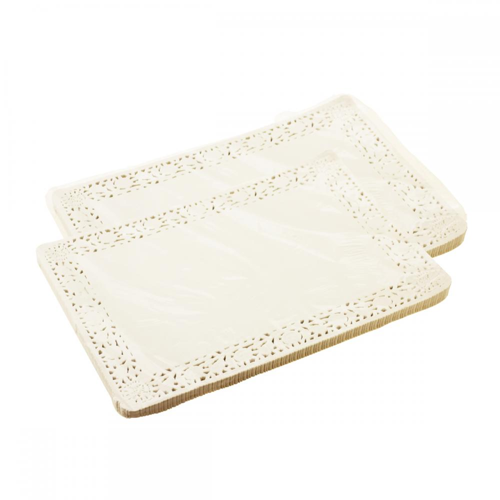 Food Grade Paper White Rectangular Paper Doilies