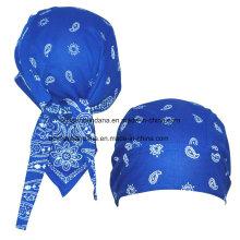 Algodón hecho a medida Paisley impreso Promocional Sports Bandana Cap Headscarf