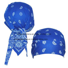 Custom Made Cotton Paisley Printed Promotional Sports Bandana Cap Headscarf