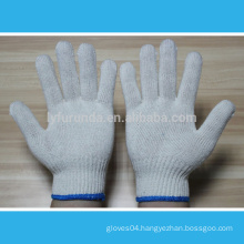 10 gauge natural white cotton knitted working gloves 600 grams