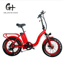 "20"" Folding Frame 1000W Ladies Fat Tire Motorized Electric Bike"