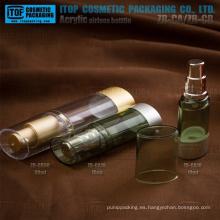 Caliente-venta fábrica tomas sola capa calidad estable plástico duro color personalizable oval claro botella privada de aire
