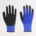 Thumb Palm Latex Coated Wrinkled Working Gloves