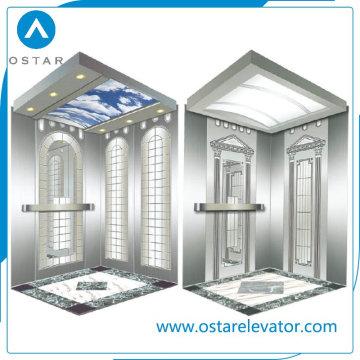 630kg 1: 1 cabine d'ascenseur de passager de corde avec le prix usine (OS41)