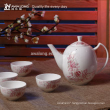 Flower Painting Antique Classical Chinese Tea Cup Set, Promotion Tea Cup Set
