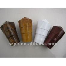 Tubos de cortina de grãos de madeira finais de plástico clássicos