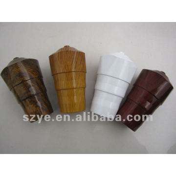 Wood grain curtain pipe plastic finials classic end caps