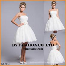 Vestido de noiva feito à mão em China Vestido de casamento curto BYB-R014